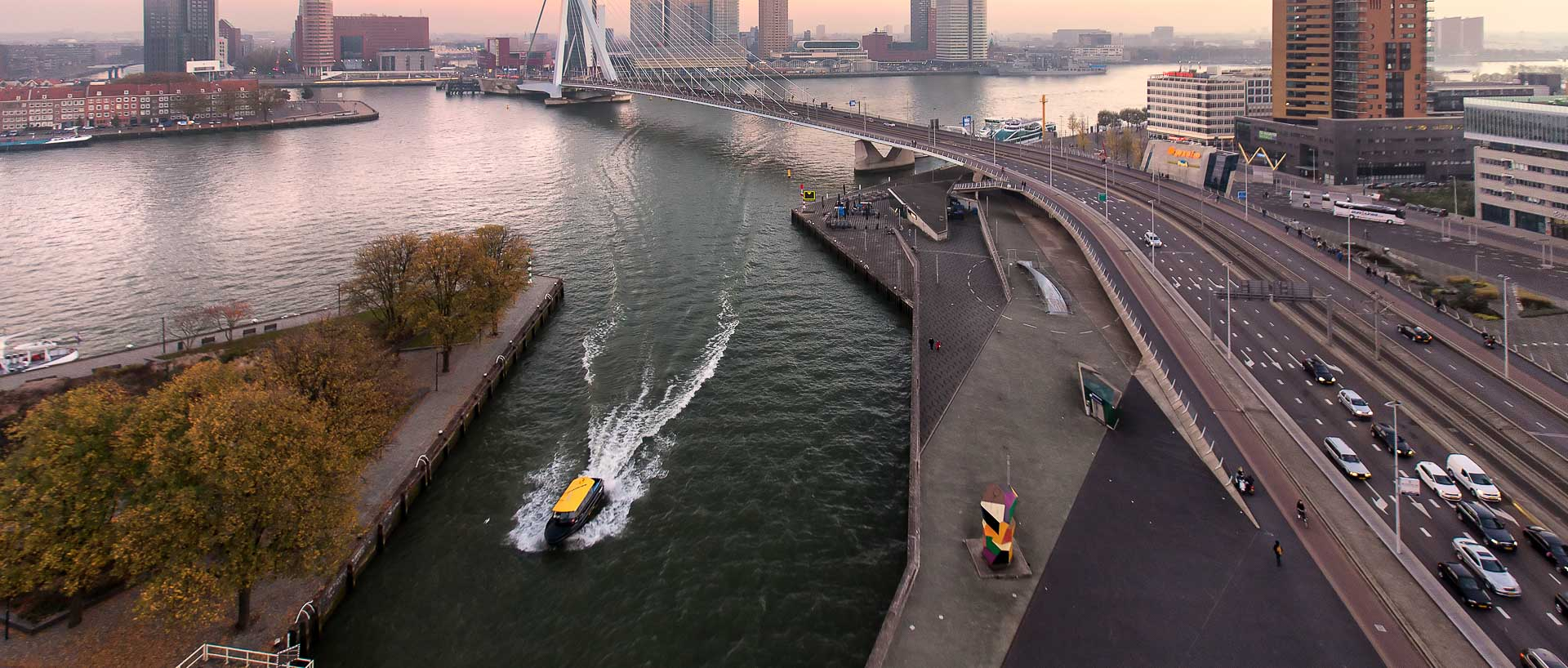 Rotterdam boat on water